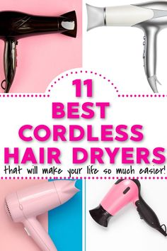 Are you looking for a cordless hair dryer so you no longer have to put up with wires getting in your way? I have found you the best ! Diy Hair Care, Hair Care Tips, Beauty Tips For Women, Beauty Make Up, Hair Tool Organizer, Hair Tools, Diy Hairstyles, Hair Dryer, Dryers