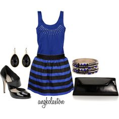 Black and Blue by angkclaxton on Polyvore