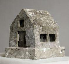 Oliver Czarnetta (Deutschland) Clay Houses, Ceramic Houses, Stone Houses, Miniature Houses, Ceramic Clay, Art Houses, Concrete Sculpture, Concrete Art, Sculpture Art