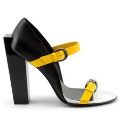 United Nude Shoes by Rem D Koolhaas and Galahad Clark: Block 2 Strap Hi shoe.