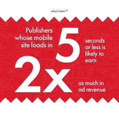 Publishers whose mobile site loads in 5 seconds or less is likely to earn as much in ad revenue. 5 Seconds, Ads, Website