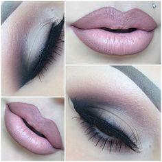 """""""Details  Eyes- @meltcosmetics Dark Matter Eyeshadow stack.  Lashes- @kokolashes in SoHo  Lips- @sephora lip stain #2…"""""""