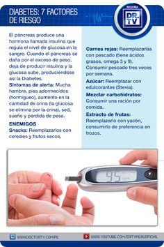 Las estadísticas indican que siete de cada cien peruanos son diabéticos,por ello debemos estar pendientes de nuestra salud. Recordemos cuáles son los siete factores de riesgo de la #Diabetes.