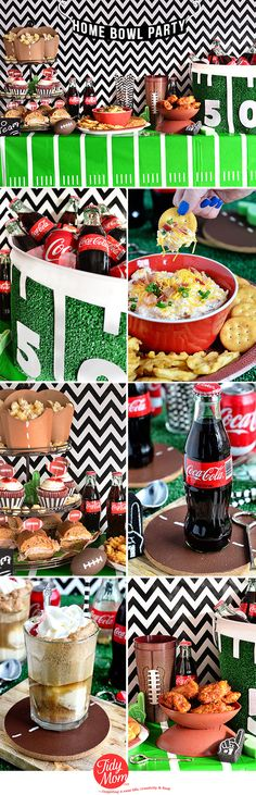 Football Party Ideas - crafts + recipes at TidyMom.net