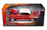1957 Chevrolet Bel Air Red Showroom Floor 1/24 Diecast Car Model By Jada 98893
