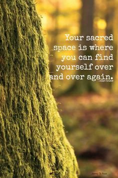 Truths Your sacred space is where you can find yourself over and over again.: Your sacred space is where you can find yourself over and over again. Zen, Encouragement, Inner Peace, Inspire Me, Wise Words, Me Quotes, Nature Quotes, Truth Quotes, Qoutes