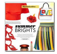 Summer Brights by aidasusisilva on Polyvore featuring polyvore fashion style Miss Selfridge Missoni KG Kurt Geiger Les Petits Joueurs Clarins Estée Lauder clothing summerbrights