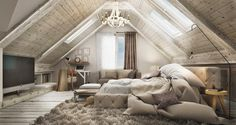 Traiborg - Member Home Page Attic Master Bedroom, Attic Bedroom Designs, Attic Bedrooms, Attic Design, Upstairs Bedroom, Bedroom Loft, Bedroom Styles, Bedroom Colors, Home Deco