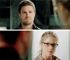 Communicating without words. Team Arrow, Arrow Tv, Arrow Season 4, Dinah Laurel Lance, Supergirl 2015, Oliver And Felicity, Dc Tv Shows, Perfect Word, Stephen Amell