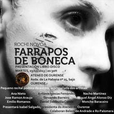 Presentación libro-disco Farrapos de Boneca de Rochi Nóvoa @ Ateneo - Ourense poesía poemario música