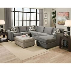 Cole Oakley Charcoal Extra Large Left Side Sectional Sofa