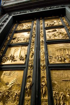 East Doors of the Bapistry by Lorenzo Ghiberti in Florence, Italy