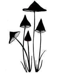 Lavinia Stamps - Clear Stamp - Slender Mushrooms,$9.49