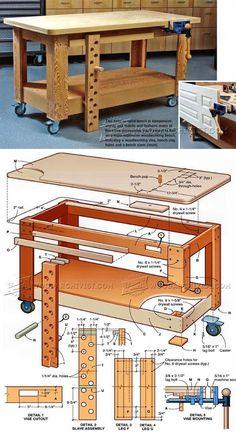 Mobile Workbench Plans - Workshop Solutions Plans, Tips and Tricks   WoodArchivist.com