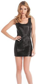 GUESS black leather dress