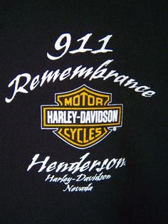 Harley Davidson Men's 2XL 911 Henderson NV Remembrance Rally Black Short Sleeves #911 #harleydavidson #tshirts