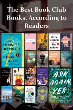 The best book club books to read, according to our readers. #books #bookclub #bookclubbooks