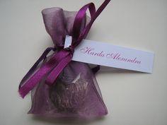 esküvői köszönetajándék, szív alakú tea, virágzó tea, esküvői ajándék. Virágzó tea organza zsákban, névellátva