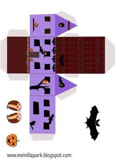 Free printable haunted house box - Geisterhaus - freebie   MeinLilaPark – DIY printables and downloads