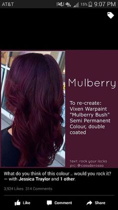Best Burgundy Hair Dye for Dark Hair . Unique Best Burgundy Hair Dye for Dark Hair . Make A Bold Statement with the Hottest Hair Color Shades Of the Haircut And Color, Hair Color And Cut, Hair Color Ideas, Hair Colour, Raven Hair Color, Unique Hair Color, Rich Hair Color, Different Hair Colors, Pelo Color Vino
