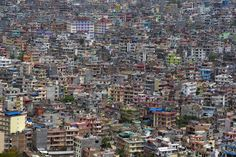 Kathmandu as seen from a helicopter on April 29, 2015.