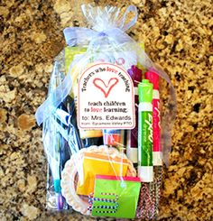 Teacher Goody Bag Directions and Tags | 9 Quick and Easy Teacher Appreciation Gifts | PTOToday.com