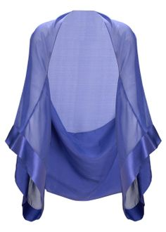 Chiffon Shrug - This unique design has one large opening for the shoulders and two wide armholes pulling the fabric taught for act as a shrug