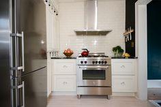 range and hood wall in white kitchen | www.j-jorgensen.com |