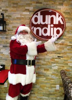 Santa at Dunk'n Dip!