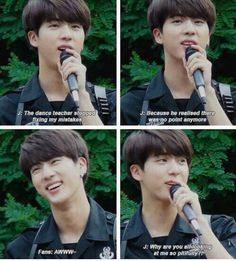 Awww Jin. But lol KAWAIIIII!!! He ain't my #1 bias, but OMG THAT SMILE IS ABSOLUTELY ADORABLE!!! ❤