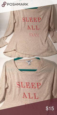"""""""SLEEP ALL DAY"""" Sleep Shirt •New & Unworn• Super comfortable & cute sleep shirt! Old Navy Tops"""