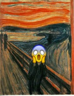 """The Scream""--this is so wrong but at the same time so funny!"