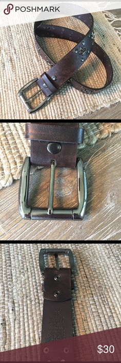 Affliction Belt Size 38 Brown Leather Perfect Condition Affliction Accessories Belts
