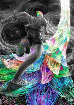 """It is pointless trying to know where the way leads, Think only about your first step, the rest will come. *Beloved Master Shams Tabrizi """"Q.S.A"""" ==Artwork by: Rainbow Road by Trippy ஜ۩ Love ۩ஜ MODaline Productions"""