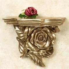 Rose Wall Shelf Gold