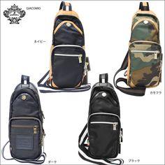 OROBIANCO オロビアンコ ボディバッグ 縦型ショルダー ナイロン×レザー本革鞄 デザイン雑貨セレクトショップNEWTRAL