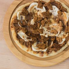 ... Cookie Butter and mascarpone Pizza made with marscapone cheese, cookie