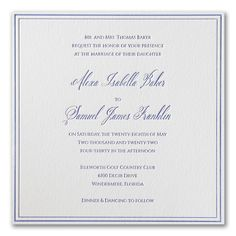 Luxurious Love - Invitation. Available to order at Persnickety Invitation Studio.