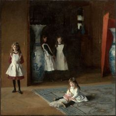"""John Singer Sargent's """"The Daughters of Edward Darley Boit."""" Museum of Fine Arts, Boston."""