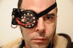 Steam punk augmented reality eye patch. Le Monocle, Cyborg Eye, Pirate Eye Patches, Dystopia Rising, Foam Armor, Wearable Technology, Mobile Technology, Wearable Device, Augmented Reality