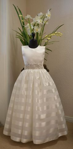 First Communion Dress Cotillion Dress by CouturesbyLaura on Etsy