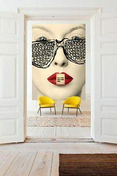 Pop art design interior sofas Ideas for 2019 Interior Design Minimalist, Decor Interior Design, Interior Decorating, Interior Office, Interior Design Yellow, Restaurant Interior Design, Decorating Games, Decorating Websites, Kitchen Interior