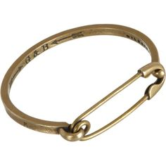 Giles and Brother Brass Safety Pin ID Cuff