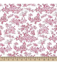 Snuggle Flannel Fabric-Scenic Toile Pink