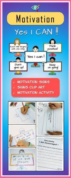 Growth mindset Motivation activity and clipart bundle, Alphabet Activities Kindergarten, Back To School Activities, Class Activities, Teaching Tools, Teaching Resources, Teaching Ideas, Self Esteem Activities, Growth Mindset Activities, Intrinsic Motivation