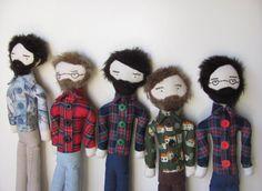 custom bearded folk man doll