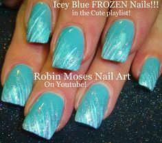 Nail Tutorial | DIY EASY Frozen Glitter Nail Art for Beginners!