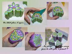 Flower Themed Kaleidoscope Cane by Les Ethiopiques