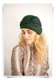 Fall Hat Style 3 WOOL FELT Chic Architectural by prestonandolivia, $150.00
