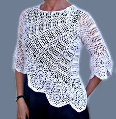 Women Crochet Sweate
